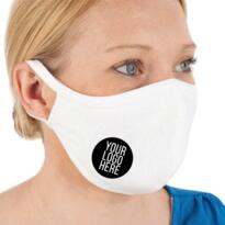 Printed Washable / Re-usable Mask (Minimum of 20) - White