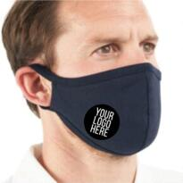 Printed Washable / Re-usable Mask (Minimum of 20) - Navy