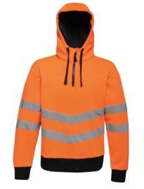 Regatta TRA472 HiVis Pro Overhead Stretch Hoodie - Orange