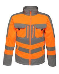 Regatta TRA473 HiVis Power Stretch Jacket - Orange