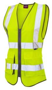 Leo Hivis Ladies Executive Vest - Yellow