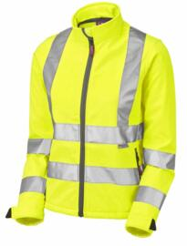 Leo HiVis Ladies Softshell Jacket - Yellow