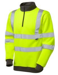 HiVis 1/4 Zip Sweatshirt - Yellow