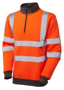 HiVis GO/RT 1/4 Zip Sweatshirt - Orange