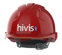 JSP EVO3 DIRECT PRINT HELMETS (BOX OF 10) - Red