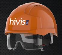 JSP EVO VISTALENS DIRECT PRINT HELMETS (BOX OF 10) - Orange