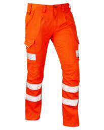Leo CT04 EcoViz Stretch Cargo Trousers Rail Spec - Orange