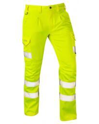 Leo CT04 EcoViz Stretch Cargo Trousers - Yellow