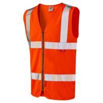 Leo W23 HiVis Flame Retardant Zipped Vest - Orange