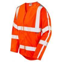 Leo S17 HiVis Anti Static / Flame Retardant Long Sleeved Vest - Orange