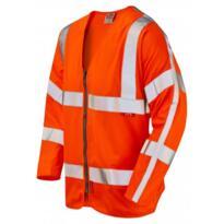 Leo S15 HiVis Flame Retardant Long Sleeve Zipped Vest - Orange