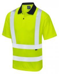 Leo HiVis EcoViz Comfort Polo Shirt - Yellow