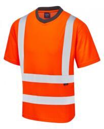 Leo HiVis EcoViz Rail Spec Tee Shirt - Orange