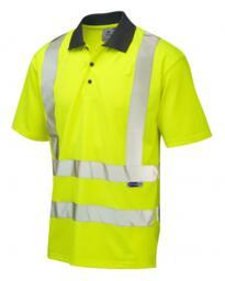 Leo HiVis EcoViz CoolViz Comfort Polo Shirt - Yellow