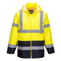 Hivis Contrast Rain Jacket - Yellow/Navy