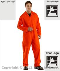 Armstrongs Flame Retardant Boilersuit [Printed] - Orange