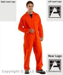 Armstrongs Flame Retardant Boilersuit [Printed] - Orange