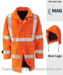 MAG Hi-vis Gore-Tex Parka Jacket [Printed] - Orange