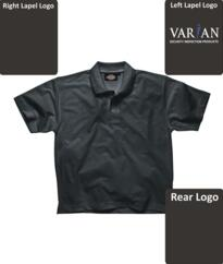 Varian Polo Shirt [Embroidered] - Black