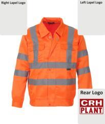 CRH Plant Go/RT Poly-cotton Jacket [Printed] - Orange