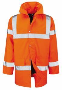 HiVis Deluxe Parka Jacket - Orange