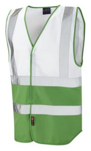 HiVis Two Tone Vest - White / Green