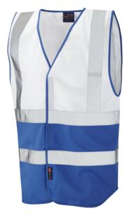 HiVis Two Tone Vest - White / Royal Blue