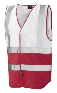 HiVis Two Tone Vest - White / Red