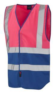 HiVis Two Tone Vest - Pink / Royal Blue