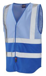 HiVis Two Tone Vest - Sky Blue / Royal Blue