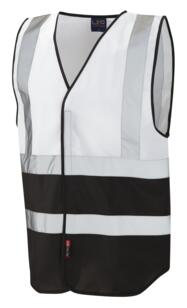 HiVis Two Tone Vest - White / Black
