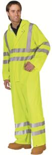 B-Seen HiVis PU Boilersuit - Yellow