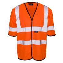 HiVis Short Sleeved Vest - Orange