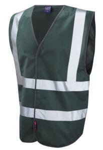 HiVis Coloured Vests - Bottle Green