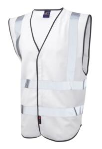 HiVis Coloured Vests - White