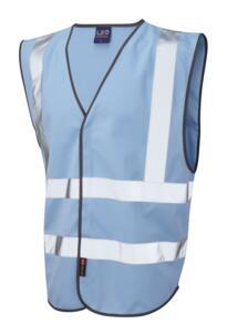 Leo HiVis Coloured Vests - Sky Blue