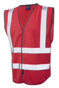 HiVis Coloured Vests - Red