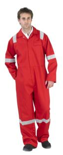 Nordic HiVis Flame Retardant Boilersuit - Red