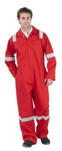 Nordic HiVis Flame Retardant Boilersuit - Red