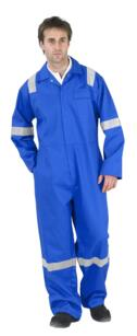 Nordic HiVis Flame Retardant Boilersuit - Royal Blue