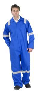 Nordic HiVis Flame Retardant Boilersuit - Royal Blue