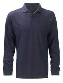 Hydra-Flame Long Sleeve Polo Shirt - Navy Blue