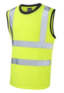 Leo HiVis Sleeveless Tee Shirt - Yellow