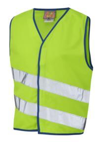 HiVis Neonstars Childrens Waistcoat - Lime Green