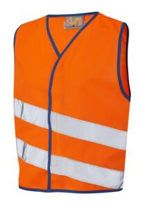 Leo HiVis Childrens Waistcoat - Orange