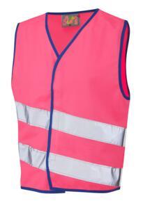 Leo HiVis Childrens Waistcoat - Pink
