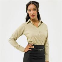 Women's Poplin Long Sleeve Blouse - Purple