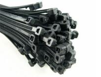 "Cable Ties 200mm (8"") x 4.8mm - Black"