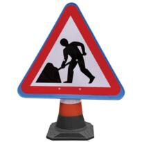 Road Cone Sign - Men at work (pack or 5)