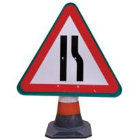 Road Cone Sign - Road Narrows Right